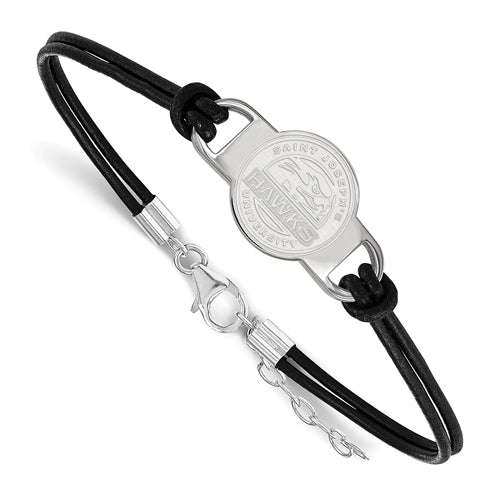 SS Saint Joseph's Univ Small Center Leather Bracelet