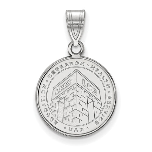 SS U of Alabama at Birmingham Medium Crest Pendant
