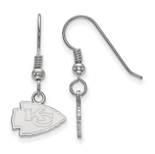 SS Kansas City Chiefs XS Dangle Earrings Wire