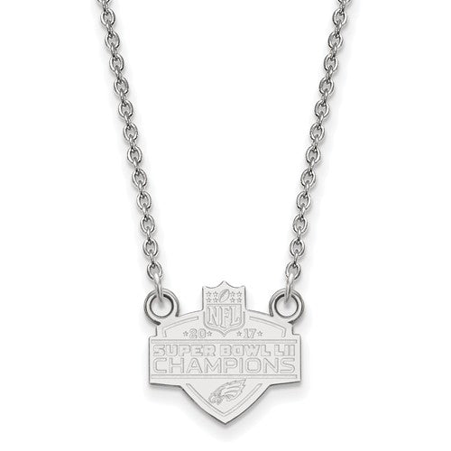 SS Large Phila Eagles Super Bowl LII Champions Small Necklace