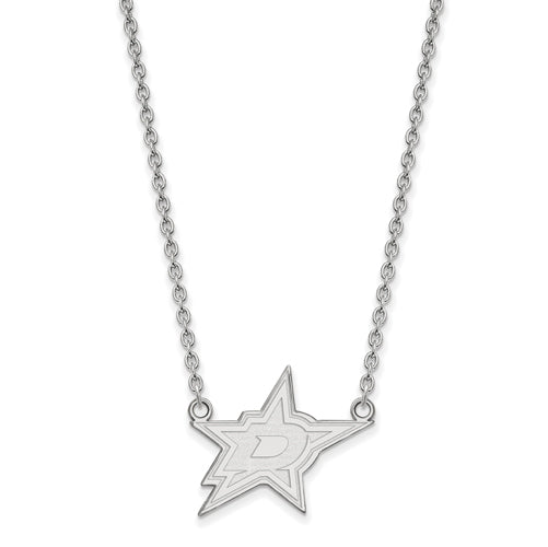 SS NHL Dallas Stars Large Pendant w/Necklace