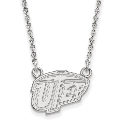 SS The U of Texas at El Paso Small UTEP Pendant w/Necklace