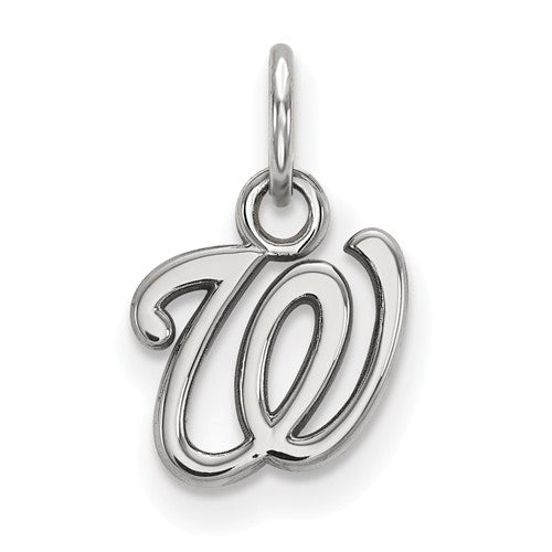 Sterling Silver MLB LogoArt Washington Nationals XS Pendant
