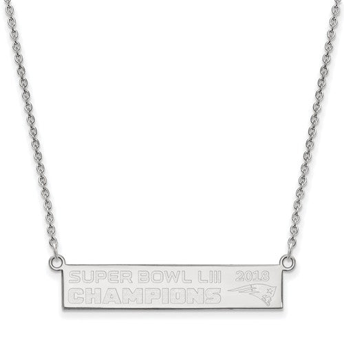 SS New England Patriots Super Bowl LIII Champions Bar Necklace