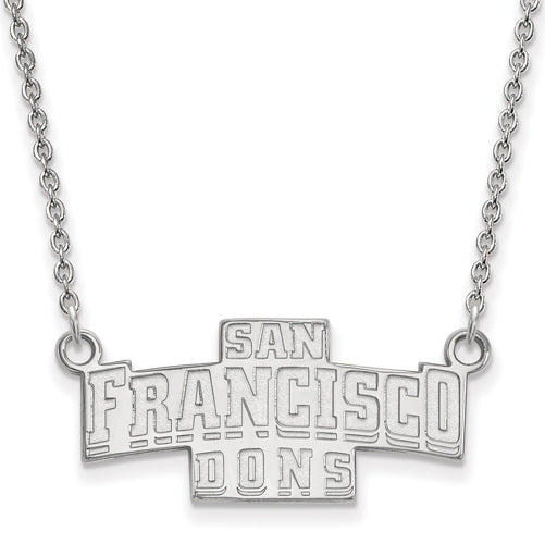 SS University of San Francisco Small Pendant w/Necklace