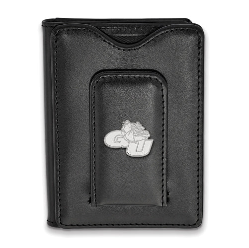 SS Gonzaga University Black Leather Money Clip Wallet