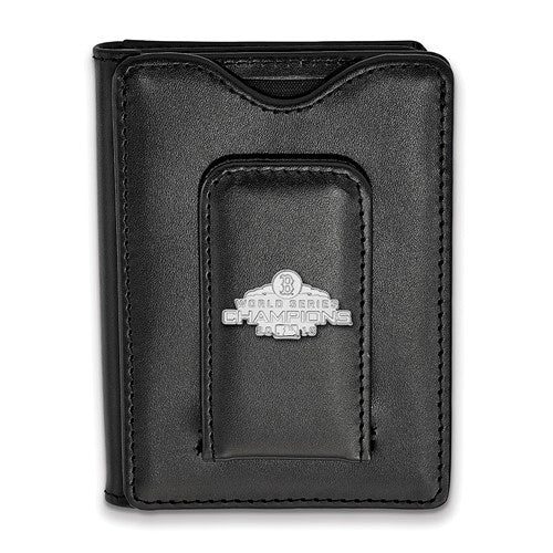 SS 2018 World Series Champions Boston Red Sox Black Leather Wallet