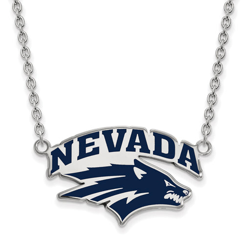 SS University of Nevada Large Enamel Pendant w/Necklace