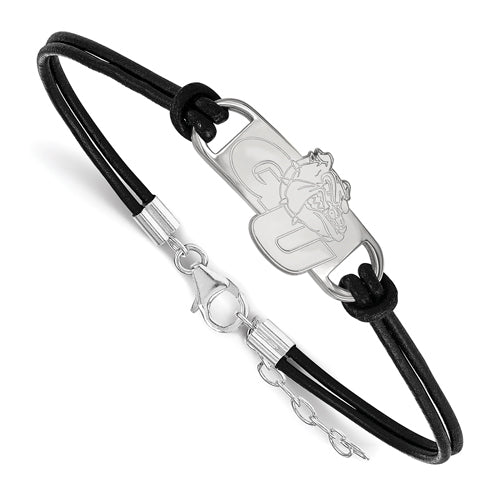 SS Gonzaga University Small Center Leather Bracelet