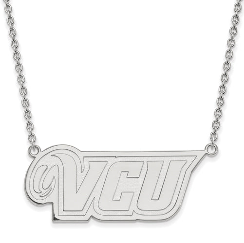 SS Virginia Commonwealth U Large VCU Logo Pendant w/Necklace