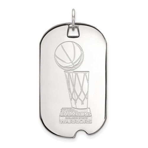 SS LogoArt 2017 NBA Championship Warriors Large Dog Tag