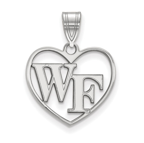 SS Wake Forest University Pendant in Heart