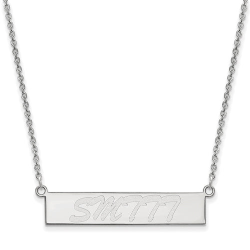 SS Southern Mississippi University of Small Bar Necklace