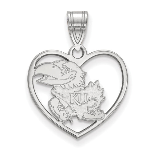 SS University of Kansas Pendant in Heart