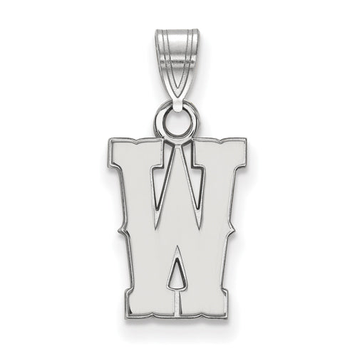 SS The University of Wyoming Small W Pendant