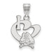 SS East Carolina University Large I Love Logo Pendant
