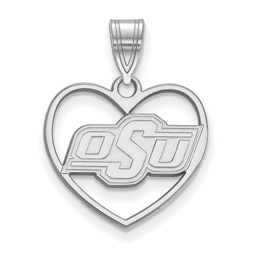 SS Oklahoma State University Pendant in Heart
