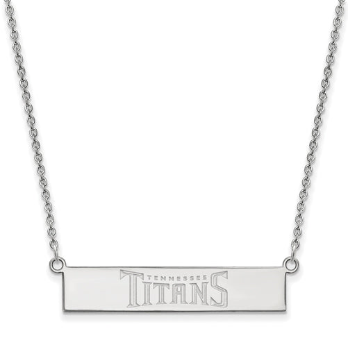 10kw Tennessee Titans Small Bar Necklace
