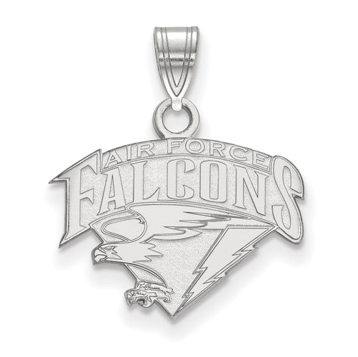 Sterling Silver US Air Force Academy Small FALCONS Pendant