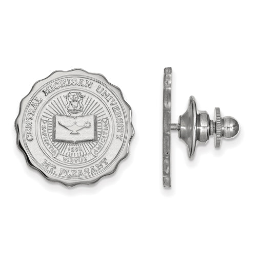 14kw Central Michigan University Crest Lapel Pin