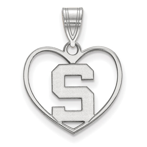 SS Michigan State University Pendant in Heart