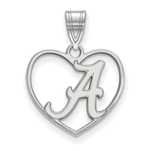 Sterling Silver University of Alabama Medium Disc Pendant by LogoArt SS086UAL