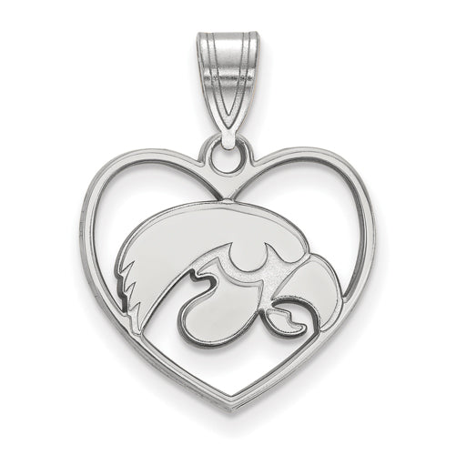 SS University of Iowa Pendant in Heart