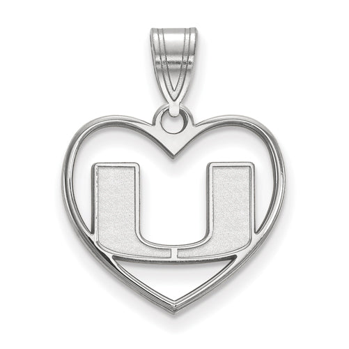 SS University of Miami Pendant in Heart