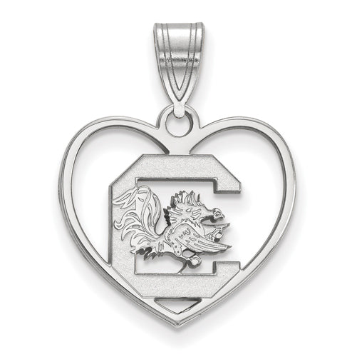 SS University of South Carolina Pendant in Heart