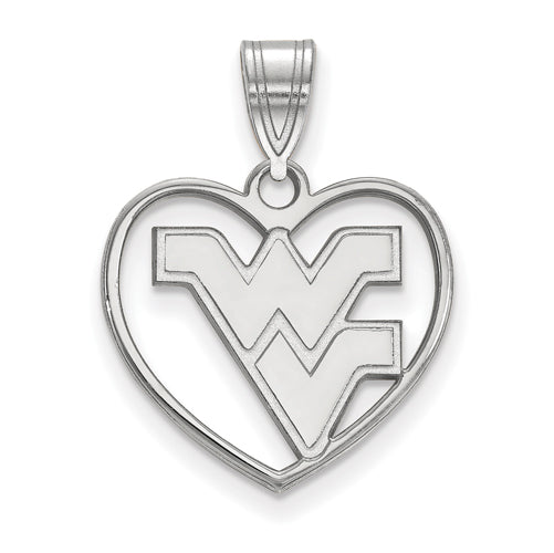 SS West Virginia University Pendant in Heart