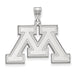 SS University of Minnesota Large Inset Logo Pendant