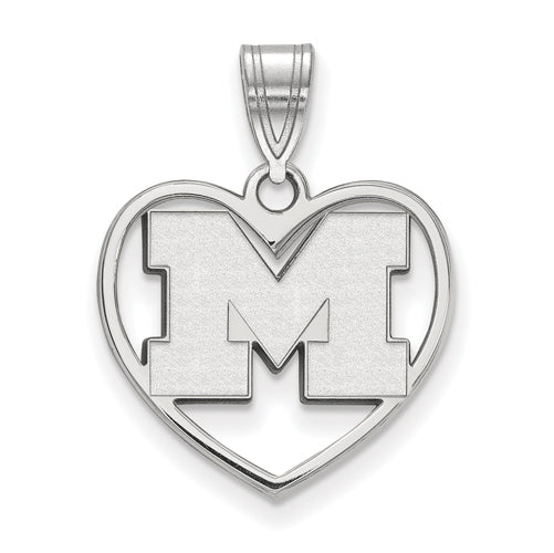 SS University of Michigan Pendant in Heart