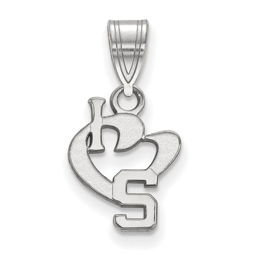 SS Michigan State University Small I Love Logo Pendant