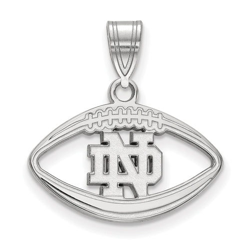 SS University of Notre Dame inside Football Pendant