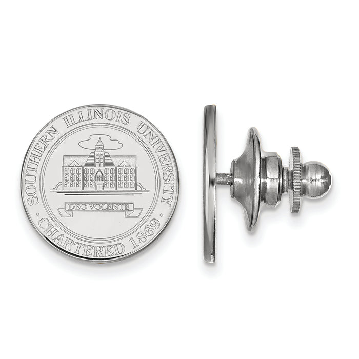 14kw Southern Illinois U Crest Lapel Pin