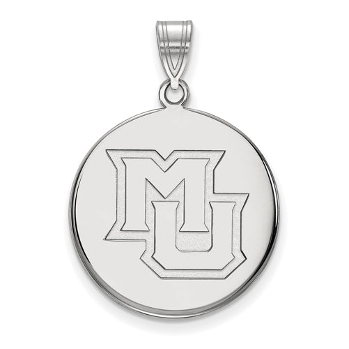 SS Marquette University Large Alt Athletics Disc Pendant