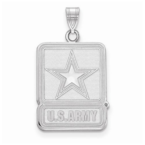 Sterling Silver Small United States Army Logo Pendant