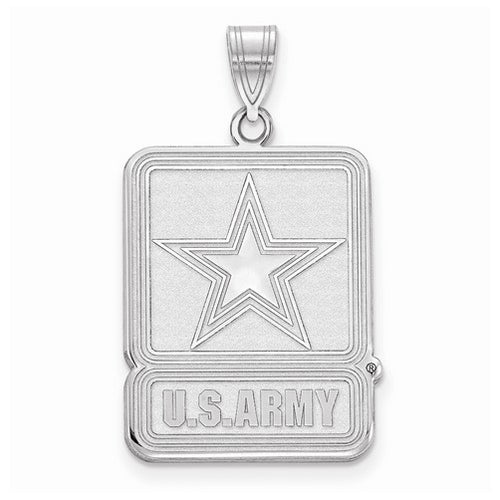 Sterling Silver Medium United States Army Logo Pendant