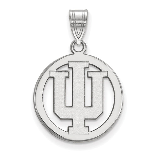 SS Indiana University Med Pendant in Circle