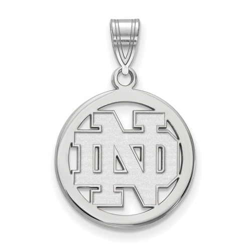SS University of Notre Dame Sm Pendant in Circle