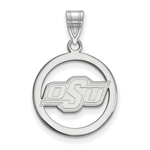 SS Oklahoma State University Small Pendant in Circle