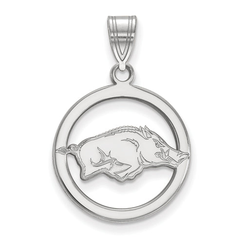 SS University of Arkansas Med Pendant in Circle
