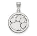 SS Clemson University Med Pendant in Circle