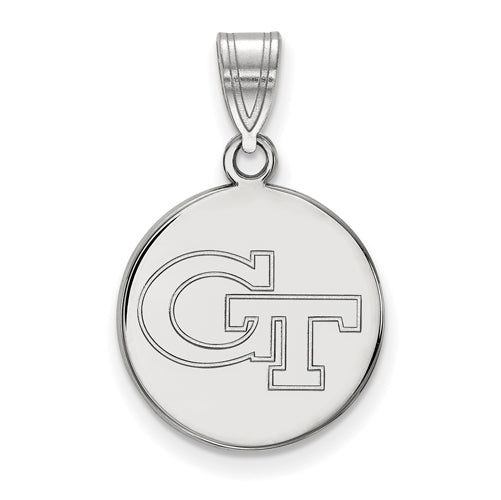 SS Georgia Institute of Technology Medium Disc Pendant