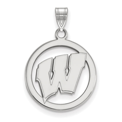 SS University of Wisconsin Med Pendant in Circle