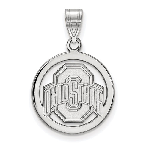 SS Ohio State U Med Buckeyes Logo Pendant in Circle