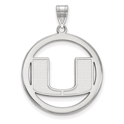 SS University of Miami L Pendant in Circle