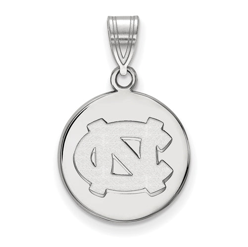 SS University of North Carolina Medium NC Logo Disc Pendant