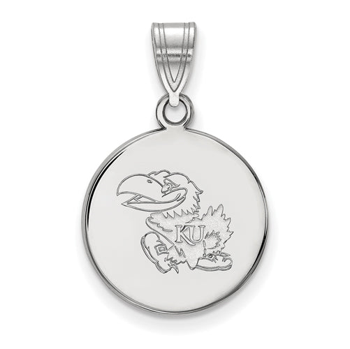 SS University of Kansas Medium Disc Pendant