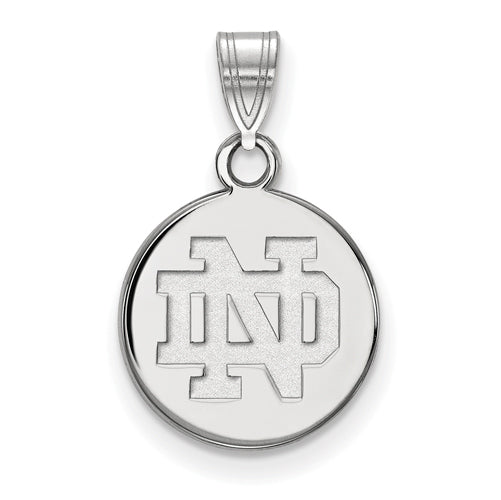 SS University of Notre Dame Small Disc Pendant